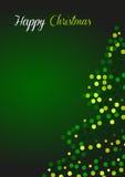 Ευχετήρια κάρτα Χριστουγέννων σε πράσινο Στοκ φωτογραφία με δικαίωμα ελεύθερης χρήσης