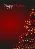Ευχετήρια κάρτα Χριστουγέννων στο κόκκινο Στοκ Εικόνες