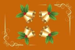Ευχετήρια κάρτα Χριστουγέννων της Holly Στοκ εικόνα με δικαίωμα ελεύθερης χρήσης