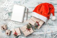 Ευχετήρια κάρτα Χριστουγέννων, Χριστούγεννα, νέα έτος και Χριστούγεννα Μάνδρα Χειροποίητα στοιχεία Στοκ Εικόνα