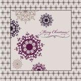 Ευχετήρια κάρτα Χριστουγέννων απεικόνιση αποθεμάτων