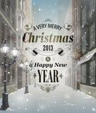 Ευχετήρια κάρτα Χριστουγέννων διανυσματική απεικόνιση
