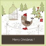 Ευχετήρια κάρτα Χριστουγέννων Στοκ εικόνα με δικαίωμα ελεύθερης χρήσης