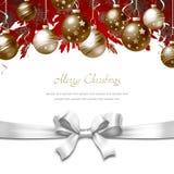 Ευχετήρια κάρτα Χριστουγέννων Στοκ Εικόνες