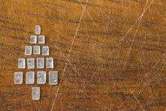 Ευχετήρια κάρτα χριστουγεννιάτικων δέντρων ζάχαρης Στοκ Εικόνες