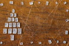 Ευχετήρια κάρτα χριστουγεννιάτικων δέντρων ζάχαρης Στοκ Φωτογραφία
