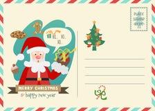 Ευχετήρια κάρτα ύφους ταχυδρομικών τελών Χριστουγέννων Στοκ φωτογραφίες με δικαίωμα ελεύθερης χρήσης