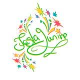 Ευχετήρια κάρτα junina Festa Στοκ εικόνα με δικαίωμα ελεύθερης χρήσης