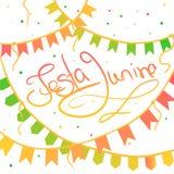 Ευχετήρια κάρτα junina Festa Στοκ Εικόνες