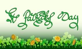 Ευχετήρια κάρτα ST Πάτρικ στοκ εικόνες