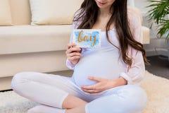 Ευχετήριες κάρτες εκμετάλλευσης εγκύων γυναικών Στοκ φωτογραφία με δικαίωμα ελεύθερης χρήσης