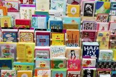 Ευχετήριες κάρτες καρτών στοκ φωτογραφία