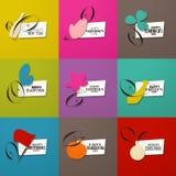 Ευχετήριες κάρτες των διασημότερων διακοπών Στοκ Φωτογραφία
