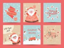 Ευχετήριες κάρτες Χριστουγέννων καθορισμένες Στοκ φωτογραφία με δικαίωμα ελεύθερης χρήσης