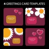 Ευχετήριες κάρτες διανυσματική απεικόνιση