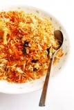 ευώδες ινδικό ρύζι πιάτων bryani Στοκ Εικόνες