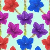 Ευώδης καπνός Άνευ ραφής σύσταση σχεδίων των λουλουδιών Floral BA ελεύθερη απεικόνιση δικαιώματος