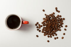 Ευώδης καφές και καφές φασολιών Στοκ Φωτογραφία