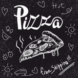 Ευώδης πρόσφατα έτοιμη πίτσα κομματιού ελεύθερη απεικόνιση δικαιώματος