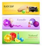 Ευώδης συλλογή εμβλημάτων σαπουνιών διανυσματική απεικόνιση