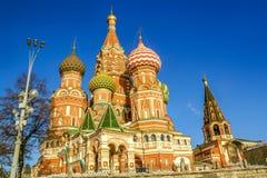 Ευλογημένος Vasily καθεδρικός ναός Αγίου στη Μόσχα Στοκ Φωτογραφίες
