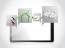 Εφαρμογές και εργαλεία ταμπλετών. σχέδιο απεικόνισης Στοκ φωτογραφίες με δικαίωμα ελεύθερης χρήσης