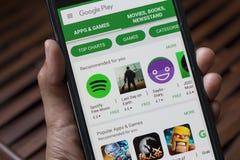 Εφαρμογές στο παιχνίδι Google Στοκ Φωτογραφία