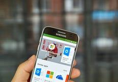 Εφαρμογές της Microsoft στο παιχνίδι Google Στοκ Φωτογραφία