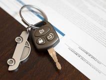 Εφαρμογή δανείου αυτοκινήτων Στοκ Εικόνες