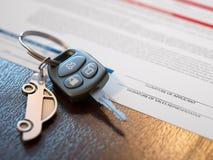 Εφαρμογή δανείου αυτοκινήτων Στοκ Φωτογραφίες