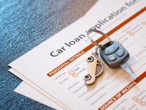 Εφαρμογή δανείου αυτοκινήτων Στοκ φωτογραφίες με δικαίωμα ελεύθερης χρήσης