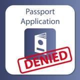 Εφαρμογή διαβατηρίων που αμφισβητείται Διανυσματική απεικόνιση