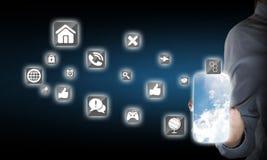 Εφαρμογή διεπαφών Smartphone Στοκ εικόνες με δικαίωμα ελεύθερης χρήσης