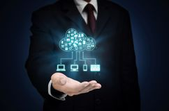 Εφαρμογή και φιλοξενία κεντρικών υπολογιστών σύννεφων Διαδικτύου στοκ φωτογραφία με δικαίωμα ελεύθερης χρήσης
