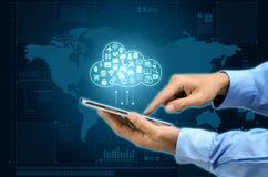 Εφαρμογή και φιλοξενία σύννεφων Διαδικτύου στοκ εικόνες