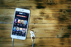 Εφαρμογή κινηματογράφων για το iphone Στοκ Εικόνες