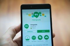 Εφαρμογή πολυσύχναστων μερών στο κατάστημα παιχνιδιού google Στοκ φωτογραφίες με δικαίωμα ελεύθερης χρήσης