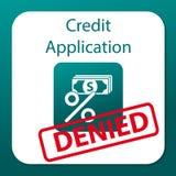Εφαρμογή που αμφισβητείται πιστωτική Απεικόνιση αποθεμάτων