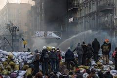 Εφαρμογή του αεριωθούμενου αεροπλάνου στο Κίεβο, Ουκρανία Στοκ εικόνα με δικαίωμα ελεύθερης χρήσης