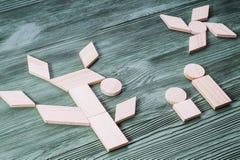 Εφαρμογή των ξύλινων φραγμών, εθνικός ένας κινητήριος Στοκ εικόνες με δικαίωμα ελεύθερης χρήσης