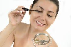 Εφαρμογή Makeup στοκ εικόνες με δικαίωμα ελεύθερης χρήσης