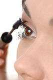 'Εφαρμογή' mascara μαστιγίων βο&upsilon Στοκ Εικόνες