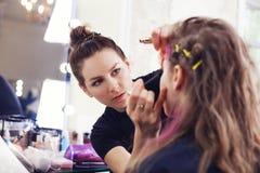 'Εφαρμογή' mascara Στοκ εικόνα με δικαίωμα ελεύθερης χρήσης