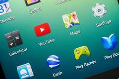 Εφαρμογή YouTube Στοκ φωτογραφία με δικαίωμα ελεύθερης χρήσης