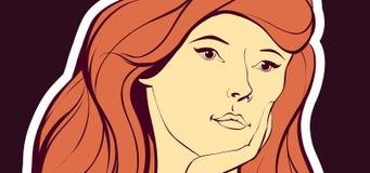 εφαρμοσμένη κόκκινη γυναίκα τριχώματος φίλτρων επίδρασης Στοκ Φωτογραφίες