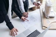Εφαρμοσμένη μηχανική ή δημιουργικός αρχιτέκτονας στο κατασκευαστικό πρόγραμμα, Engin Στοκ Εικόνες