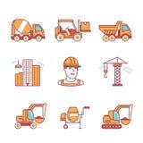 Εφαρμοσμένη μηχανική και μηχανήματα εργοτάξιων ελεύθερη απεικόνιση δικαιώματος