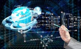 Εφαρμοσμένη μηχανική που σχεδιάζει το tecnology σύνδεσης Στοκ Εικόνες