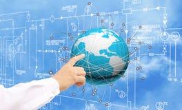 Εφαρμοσμένη μηχανική που σχεδιάζει το tecnology σύνδεσης Στοκ εικόνα με δικαίωμα ελεύθερης χρήσης