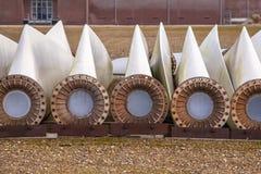 Εφεδρικά φτερά ανεμοστροβίλων Στοκ εικόνα με δικαίωμα ελεύθερης χρήσης